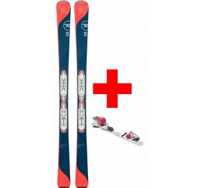ROSSIGNOL TEMPTATION 80 (XPRESS) +XPRESS W 10 B83 WHT/STRAWBERRY